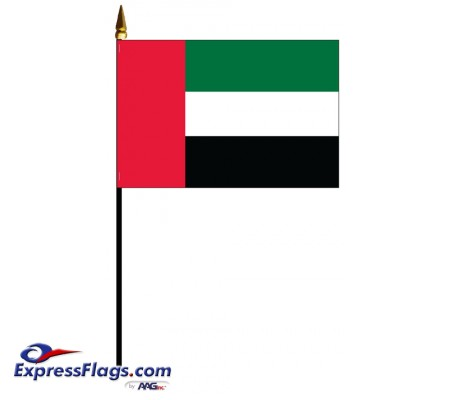 United Arab Emirates (UAE) Mounted Flags - 4in x 6in034278