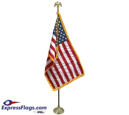 3  x 5  Freedom U.S. Flag Indoor Display Set010289