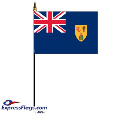 Turks & Caicos Mounted Flags - 4in x 6in034218