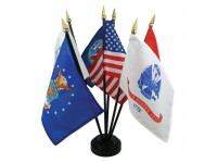 U.S. Military Flags Tabletop Set