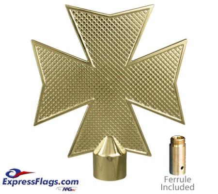 Metal Maltese Cross Ornament for Indoor Display Flagpoles050079