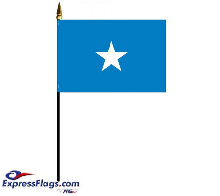 Somalia Mounted Flags - 4in x 6in033810