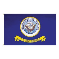 Navy Retired Flags - 3' x 5'