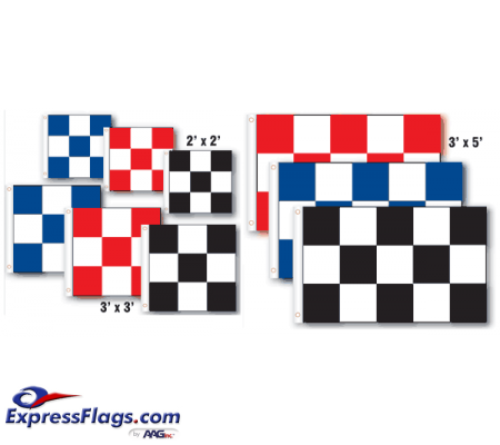 Checkered Nylon FlagsRP-CKD