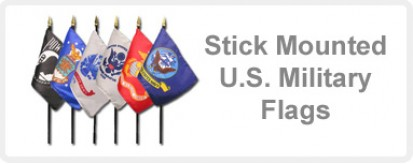 Stick Mounted U.S. Military Flags