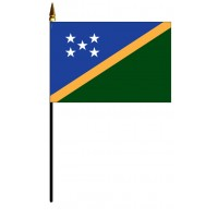 Solomon Islands Mounted Flags - 4in x 6in