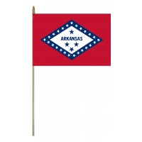 Mounted Arkansas State Flags