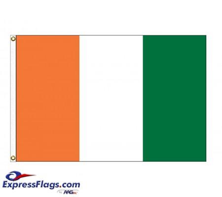 Cote D Ivoire Nylon Flags  (UN Member)CIV-NYL