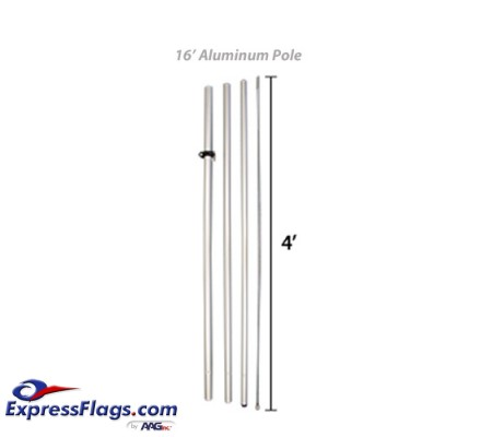 Aluminum Feather Flag Pole - Hardware OnlyFTHR-POLE-16