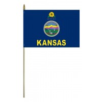 Mounted Kansas State Flags