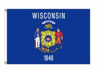 Nylon Wisconsin State Flags