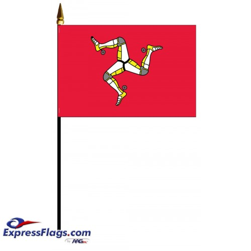 Man, Isle Of Mounted Flags - 4in x 6in032636