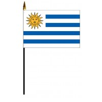 Uruguay Mounted Flags