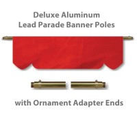 Deluxe Aluminum Lead Parade Banner Poles with Ornament Adapter Ends