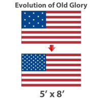 5' x 8' Evolution of Old Glory American Historical Flags - Nylon