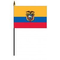 Ecuador Mounted Flags