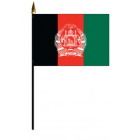 Afghanistan Mounted Flags - 4in x 6in