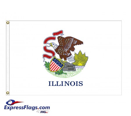 Nylon Illinois State FlagsIL-NYL