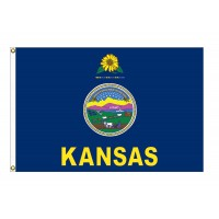 Nylon Kansas State Flags
