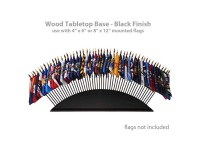 Black Wood Tabletop Flag Bases - 36 or 51 flags