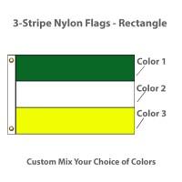 3-Horizontal Stripe Nylon Flags - Rectangle