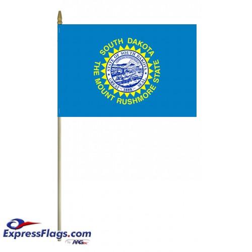 Mounted South Dakota State Flags