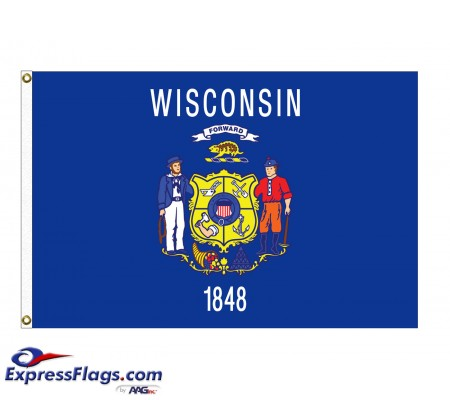 Poly-Max Wisconsin State FlagsWI-PM