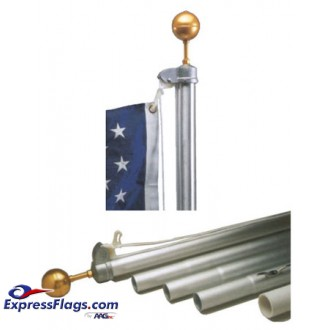 20ft. Pole & Flag Set - Homesteader Aluminum Residential Flagpole320067