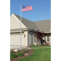 20 ft. Special Budget Aluminum Flagpole (0.125) - 3 Section External Halyard