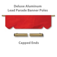 Deluxe Aluminum Lead Parade Banner Poles with Capped Ends