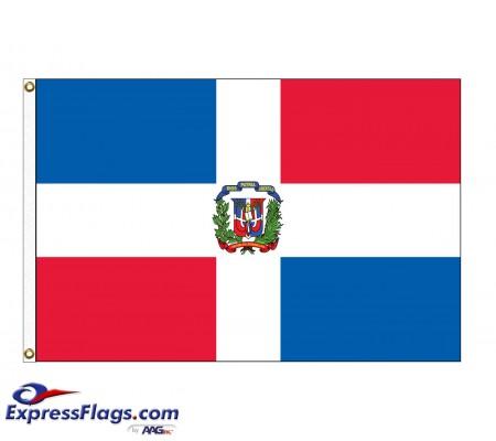 Dominican Republic Nylon Flags - (UN, OAS Member)DOM-NYL