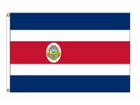 Costa Rica with Seal Nylon Flags  (UN, OAS Member)