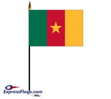 Cameroon Mounted Flags - 4in x 6in030731