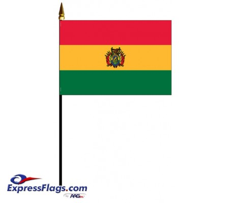 Bolivia with Seal Mounted Flags030539