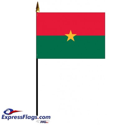 Burkina Mounted Flags - 4in x 6in030683