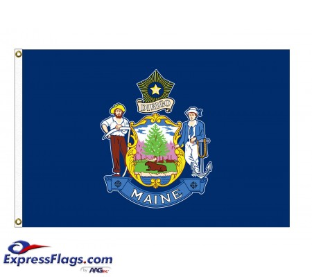 Poly-Max Maine State FlagsME-PM