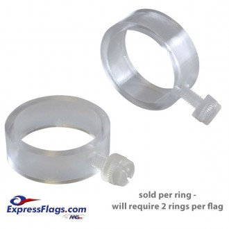 EZ-Mount Clear Plastic Flag RingsEZ-M