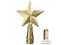 Metal Texas Star Ornament for Indoor Display Flagpoles