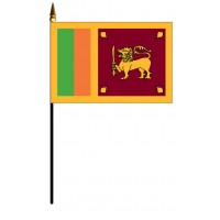 Sri Lanka Mounted Flags - 4in x 6in