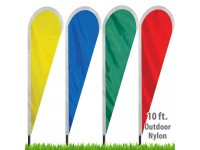 Nylon Solid Color Tear Drop Flags - 30in wide