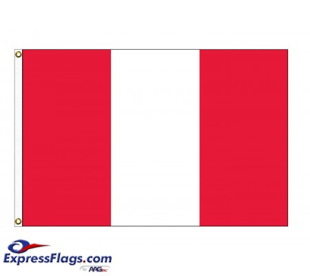 Peru Nylon Flags (No Seal)PER-NYL-2