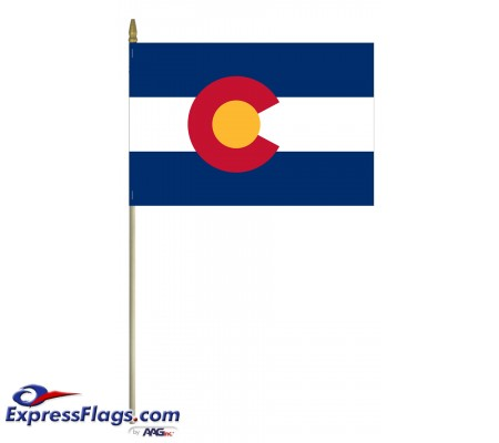Mounted Colorado State Flags