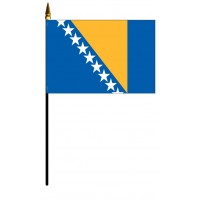 Bosnia-Herzegovina Mounted Flags - 4in x 6in