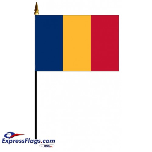 Chad Mounted Flags - 4in x 6in030873