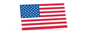 American Flag Decals - 1-7/16 in x 2-1/2 in