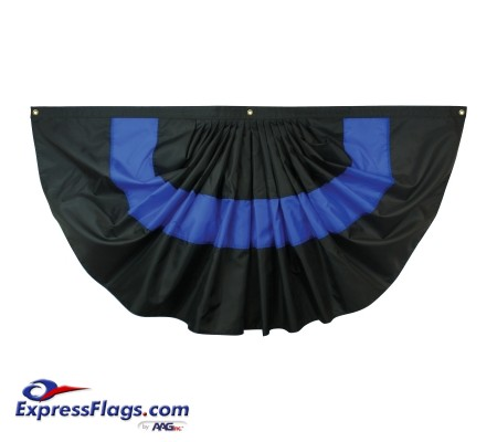Nylon Pleated Thin Blue Line Fan
