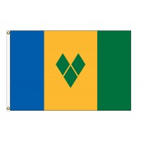 Saint Vincent & The Grenadines Nylon Flags (UN, OAS Member)