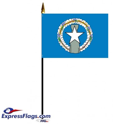 Mounted Northern Marianas Flags022022