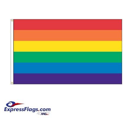 Rainbow Nylon FlagsNY-RNBW