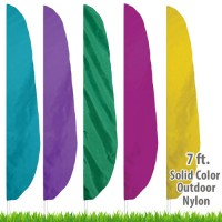 Nylon Solid Color Feather Flags - 7 Ft.